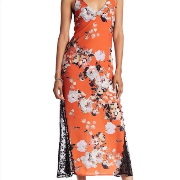 ABS Allen Schwartz Dresses | Nwt Abs 470 Floral Slip Dress Sz 6 ...
